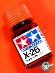 Tamiya: Enamel paint - X-26 - Clear orange - 10ml