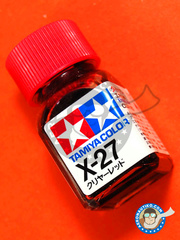 Tamiya: Enamel paint - X-27 - Clear Red - 10ml