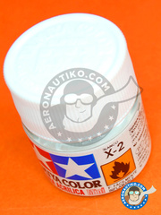 Tamiya: Acrylic paint - White X-2 - for all kits
