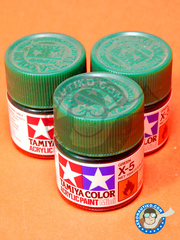 Tamiya: Acrylic paint - Green X-5 - for all kits