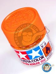 Tamiya: Acrylic paint - Orange X-6 - for all kits