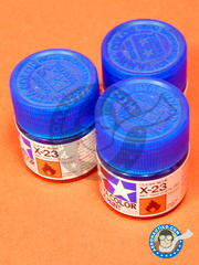 Tamiya: Acrylic paint - Clear blue X-23 - for all kits