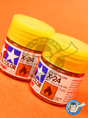 Tamiya: Acrylic paint - Clear yellow X-24 - for all kits