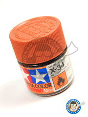 Tamiya: Acrylic paint - Metallic Brown X-34 - for all kits