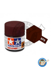 Tamiya: Acrylic paint - Burdeos red - XF-9 - for all kits