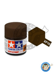 Tamiya: Acrylic paint - Flat Brown XF-10 - for all kits