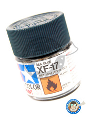 Tamiya: Acrylic paint - Sea blue XF-17 - for all kits