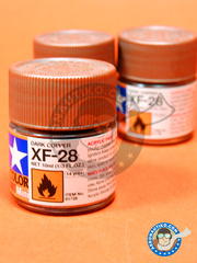 Tamiya: Acrylic paint - Dark copper XF-28 - for all kits