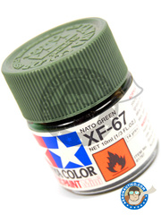 Tamiya: Acrylic paint - Nato Green XF-67 - for all kits