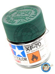 Tamiya: Acrylic paint - Dark Green 2 IJN XF-70 - for all kits
