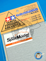 Tamiya: Sandpaper - Finishing abrasives - Ultra fine set - 1 x 1200 - 2 x 1500 - 2 x 2000 - for all kits