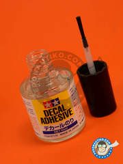 Tamiya: Decal products - Decal Adhesive - 10ml - 10ml Jar - for all decals or markings image