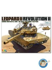 Tiger Model: Tank kit 1/35 scale - LEOPARD II REVOLUTION II MBT - metal parts, photo-etched parts, plastic parts, water slide decals and assembly instructions