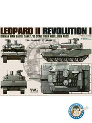 Tiger Model: Tank kit 1/35 scale - LEOPARD II REVOLUTION I - photo-etched parts, plastic parts, water slide decals and assembly instructions