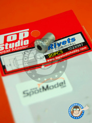 Top Studio: Rivets - 1.0mm rivets - turned metal parts