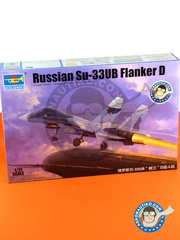 Trumpeter: Airplane kit 1/72 scale - Sukhoi Su-33 UB Flanker D - Russian Air Force (RU3) - different locations - photo-etched parts, plastic parts, resin parts, water slide decals and assembly instructions image
