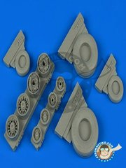 Wheelliant: Wheels 1/48 scale - Good Year wheels for F-14 Tomcat - resin parts - for Tamiya kits