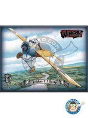 Wingnut Wings: Airplane kit 1/32 scale - Fokker E.1 Early - 8 victories (DE1); 19 victories (DE1); August 1915 (DE1); FFA 62, August 1915 (DE1) - photo-etched parts, plastic parts, water slide decals and assembly instructions