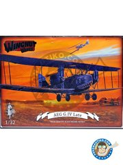 Wingnut Wings: Airplane kit 1/32 scale - AEG G.IV Late - May 1918 (DE0); June 1918 (DE0);  (DE0); 1918 (DE0) - plastic parts, water slide decals and assembly instructions
