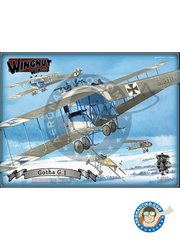 Wingnut Wings: Airplane kit 1/32 scale - Gotha G.1 - September 1915 (DE1);  (DE1); September 1916 (DE1) - plastic parts, water slide decals and assembly instructions