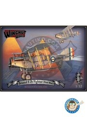 Wingnut Wings: Airplane kit 1/32 scale - Bristol F.2b Fighter - 1926 (GB0); Ismailia Egypt, 1925 (GB0); 31 Squadron, Dardoni India, 1923 (GB0); 1925 (IR0) - photo-etched parts, plastic parts, water slide decals and assembly instructions