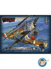 Wingnut Wings: Airplane kit 1/32 scale - Sopwith F.1 Camel 'Le Rhone' - February 1918 (GB0); January 1918 (GB0); January - February 1918 (GB0); September - October 1918 (GB0); August - October 1918 (GB0) - photo-etched parts, plastic parts, water slide decals and assembly instructions