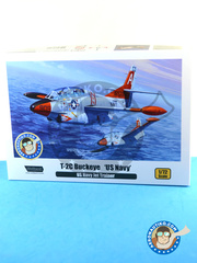 Wolfpack Design: Airplane kit 1/72 scale - North American T-2 Buckeye C - US Navy (US0); USAF (US0) - different locations - plastic parts, water slide decals and assembly instructions image