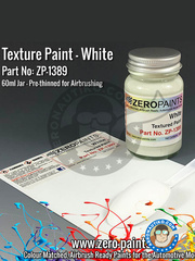Zero Paints: Paint - White Textured - 60ml  image