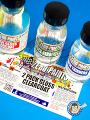 Zero Paints: Clearcoat - 2 Pack Clear Coat 100ml (Urethane) FULL PACK - for Airbrush