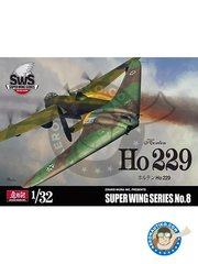 Zoukei-Mura: Airplane kit 1/32 scale - Horten Ho 229 - plastic parts, water slide decals and assembly instructions
